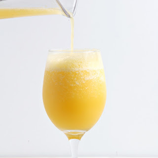 Blended Mimosas.