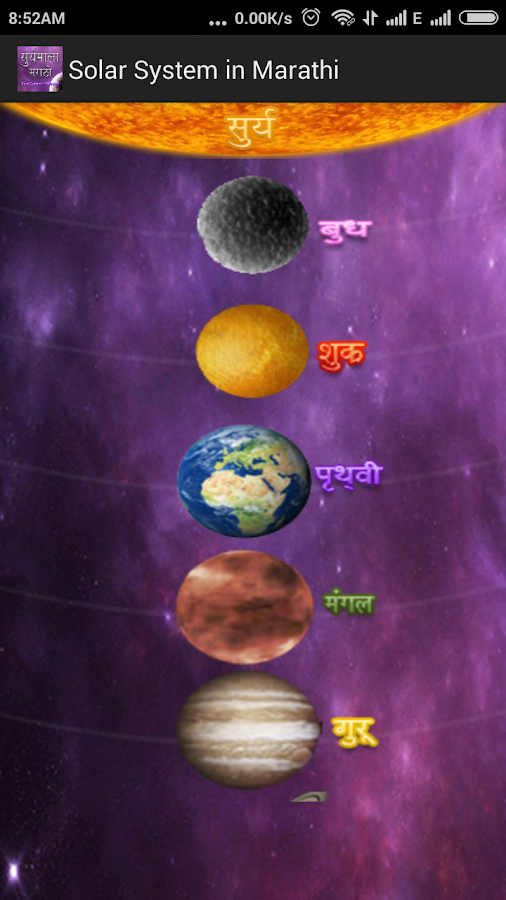 planets information in marathi - photo #1