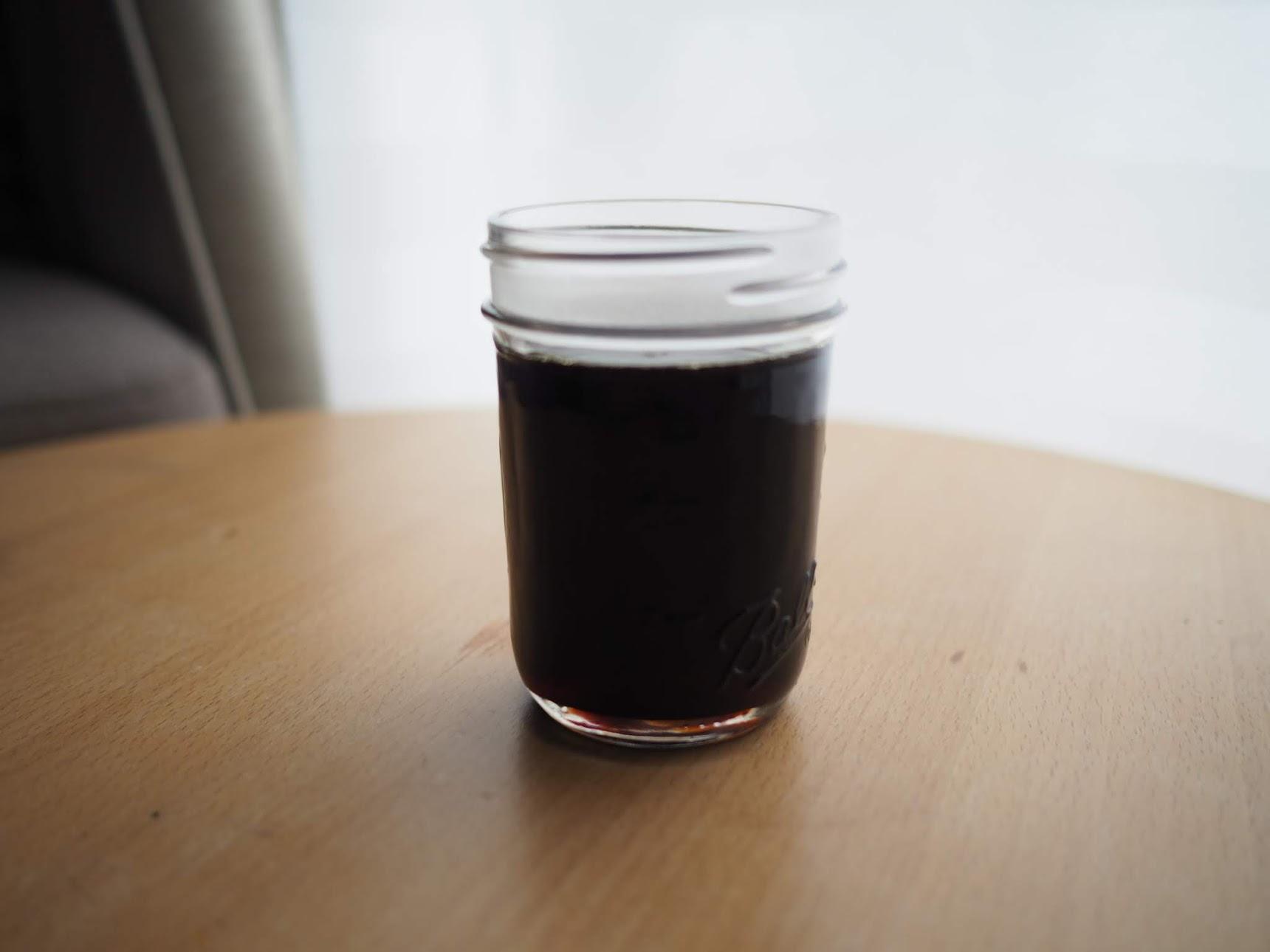 簡単ほうじ茶シロップの完成