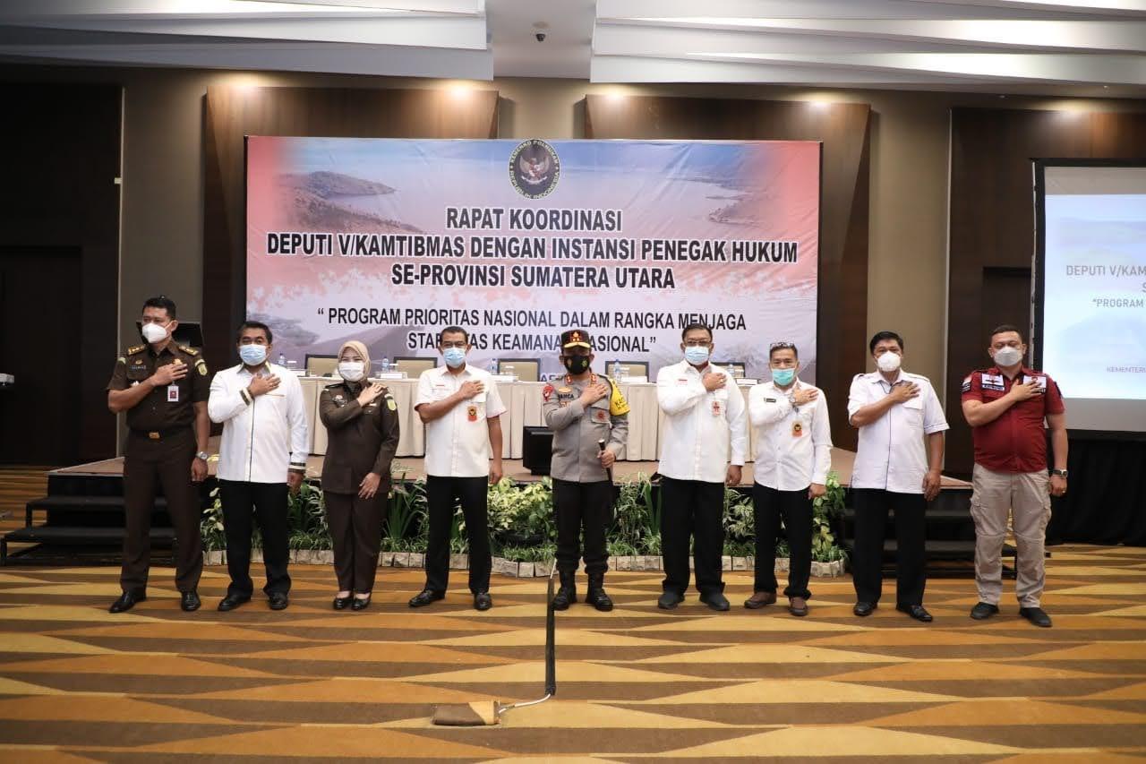 Kapolda Sumut Gelar Rakor Jaga Stabilitas Keamanan Nasional
