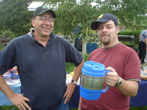 "Photo: Dave P. and Pastor Mike with ""The Keg"""