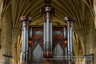 Photo: Exeter Cathedral - organ and ceiling (3). Captured @ Exeter, Devon, England, United Kingdom