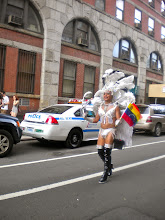 Photo: Gay pride festivities, West 10 Street between Greenwich and Washington streets, Greenwich Village, 26 June 2011. (Photograph by Elyaqim Mosheh Adam.)
