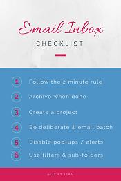 Get the email inbox checklist