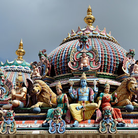 Sri Mariamman by Tomasz Budziak - Buildings & Architecture Architectural Detail ( asia, architecture, singapore )