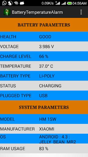 Battery Temperature Alarm