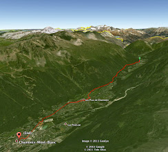 Photo: A Google Earth view of the GPS track log. I'm such a My Tracks (for Android) fanboy.