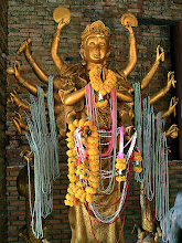 Photo: goddess Kwan Yin with a 'thousand' arms, Wat Sala Loi, Khorat