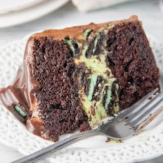 Mint Oreo Cheesecake Chocolate Cake