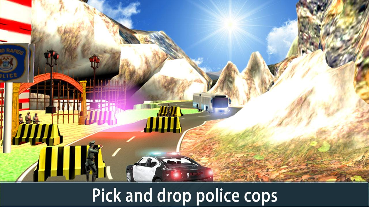 Police Bus Uphill Driver- screenshot