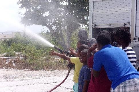 Fireman demonstration at Summer Programme