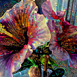 Hibiscus flowers by Cassy 67 - Digital Art Things ( digital, love, modern art, harmony, flowers, abstract art, light, hibiscus, abstract, digital art, energy, flower )