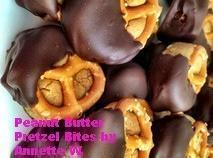 Chocolate Dipped Peanut Butter Pretzel Bites Recipe