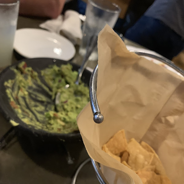 Couldn't get a good picture of fresh guac and chips as they were being eaten so fast!