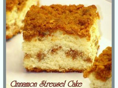 Cinnamon Streusel Offee Cake Recipe