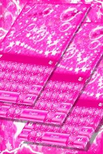 Pink Sparkles Keyboard - náhled