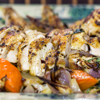 One-Pot Beer Can Chicken with Roasted Vegetables
