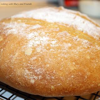 No-Knead Crusty White Bread