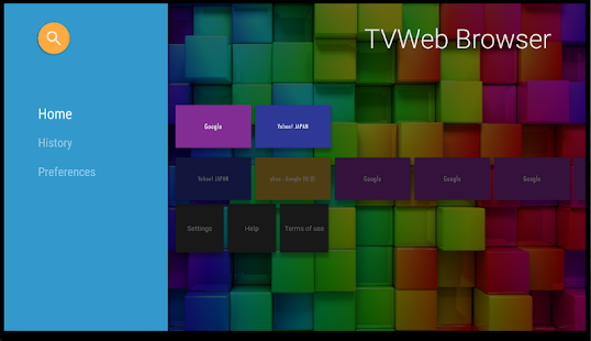 TVWeb Browser for TV- screenshot thumbnail