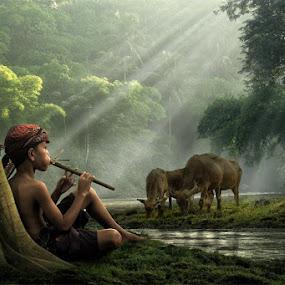 river side by Budi Cc-line - Digital Art People