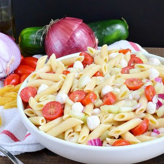 Cucumber and Tomato Pasta Salad Recipe