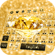 Golden Diamond Keyboard Theme by Cool Pop Keyboard Theme icon