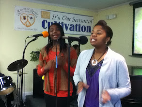 Photo: 6/8/12 - Some of Our Praise & Worship Leaders of Morning Worship (left to right) - Cianna Jackson and Khadijah Lopez.