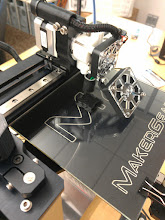 Photo: Printing the test companion cube. My tramming job leaves a bit to be desired.