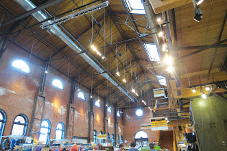 Photo: REI's flagship store in Denver, converted from a 1901 era locomotive repair facility