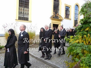 Photo: Count Manto and Countess Eva zu Castell-Rüdenhausen, Duke Friedrich August and Duchess Donata of Oldenbrug, Count Karl and Countess Caroline zu Castell-Rüdenhausen
