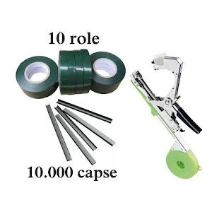 Aparat pentru legat vita de vie si legume + 10.000 capse + 10 role de banda