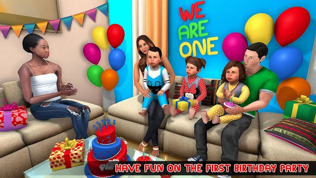 New Mother Baby Triplets Family Simulator