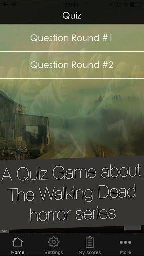 Quiz App for The Walking Dead