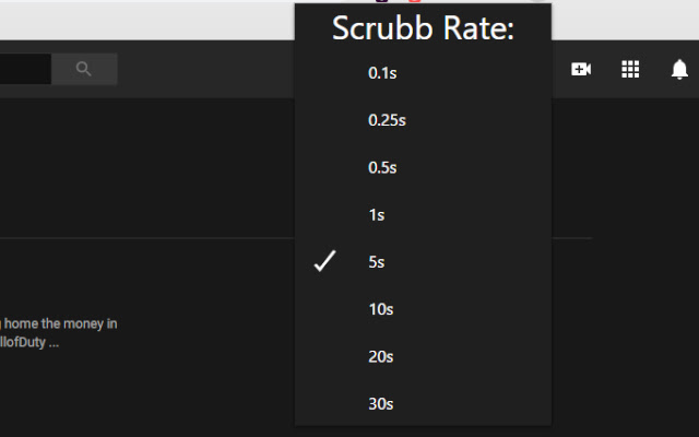 YouTube Scrubbing Rate Controller