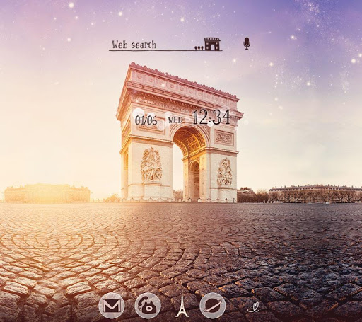 無料壁紙-arc de Triomphe-きせかえ・アイコン