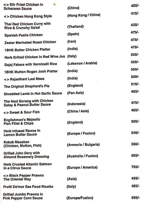 1BHK Superbar menu 4