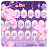 Purple Sparkling Flower Keyboard Theme Icône