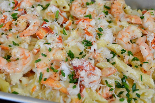 Lobster, Crab and Shrimp Macaroni and Cheese Recipe