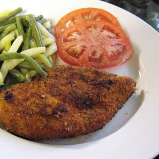 Spicy Oven Fried Chicken Breasts.