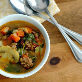 Vegetable Beef Curry Soup.