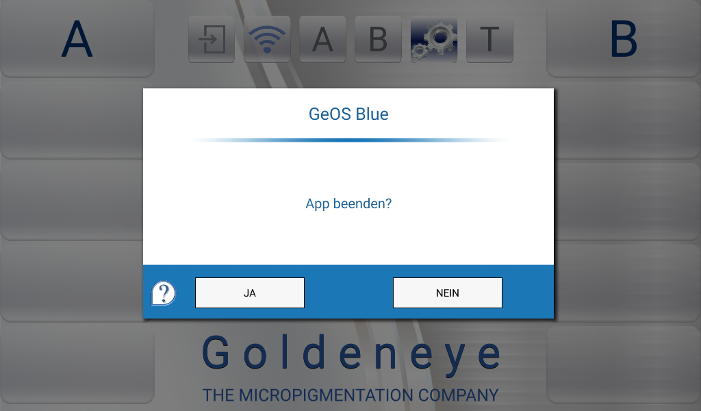 GeOS blue- screenshot