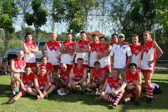 "Photo: The Hanoi Swans Back Row: Josh Magennis, Phil Johns, Gus McEwin. Michael Growder, Justin ""Pumper"" Hart, Colin Steley, Sri, Dave ""Flyer"" Kainey, Cint Barfly, Jack. Front Row: Daryl Taber (Prez), Barrie, Micky J, ?, Dave Rehn, ? Ben Leaver, Will Martin, Phi"