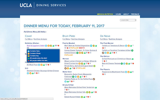 UCLA Delp Dining Helper