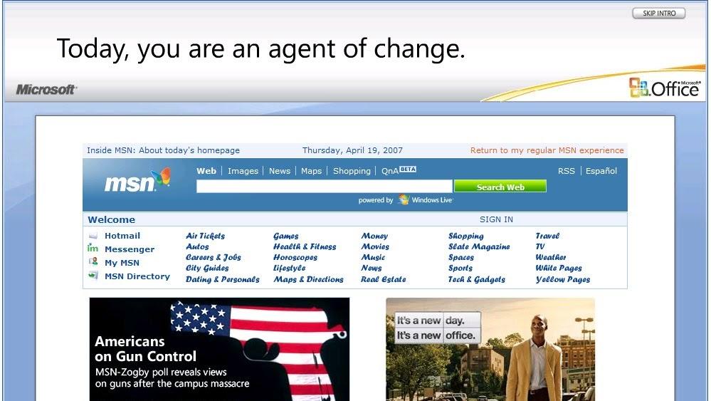 오피스 2007의 혁신적인 MSN 광고와 사용성