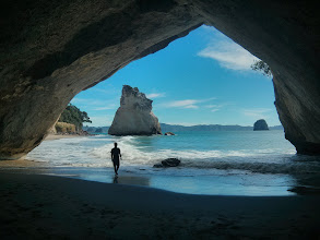 Photo: Cathedral Cove, which now ranks as the nicest beach I've been to.
