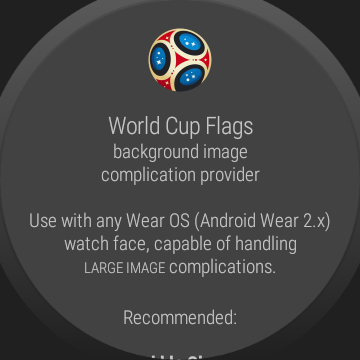 World Cup watch face background image complication  screenshots 30