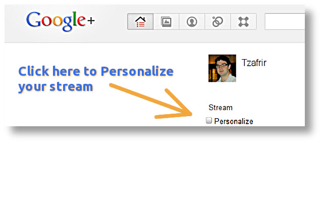 Personalize for Google Plus™