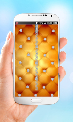 Diamond Zipper Lock Screen