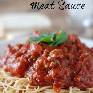 Easy Slow Cooker Meat Sauce Recipe