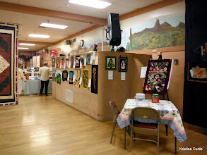 Photo: Art Quilts and raffle Crazy Quilt